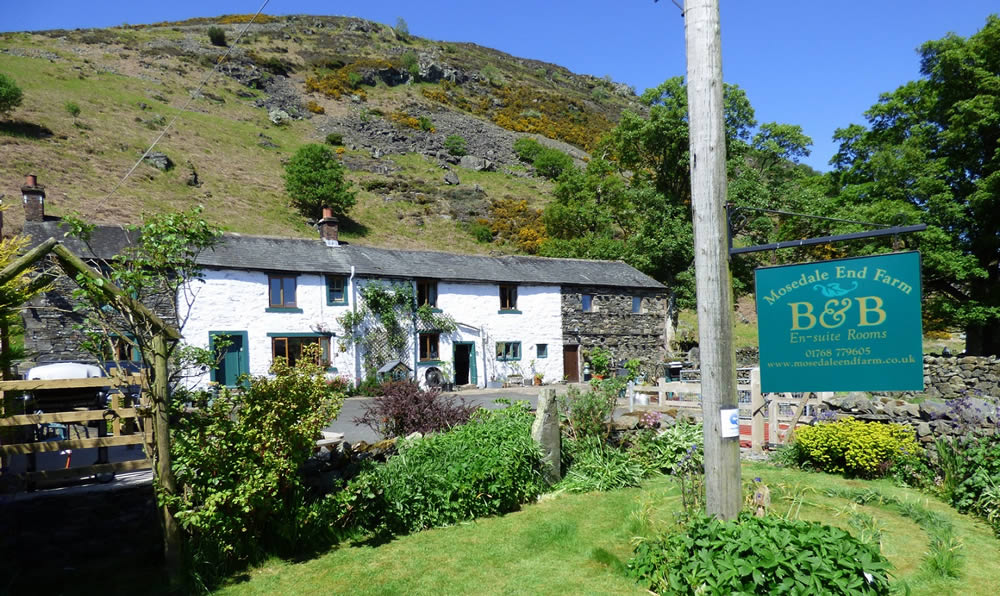 Mosedale End Farm B&B near Keswick and Ullswater in the Lake District